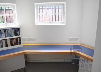 fitted bespoke home office desk