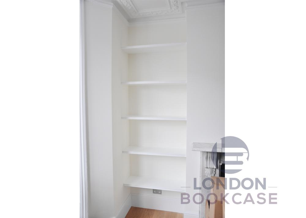 alcove floating shelves front