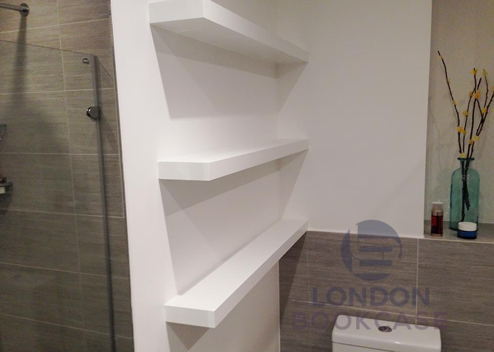 bathroom floating shelves