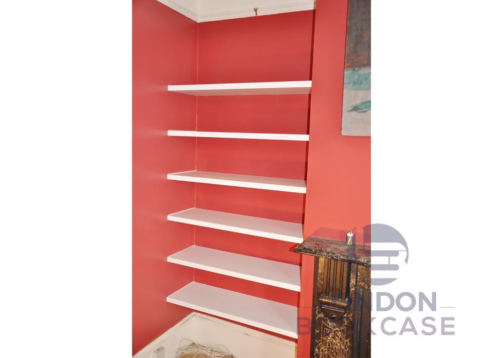 bespoke alcove shelves