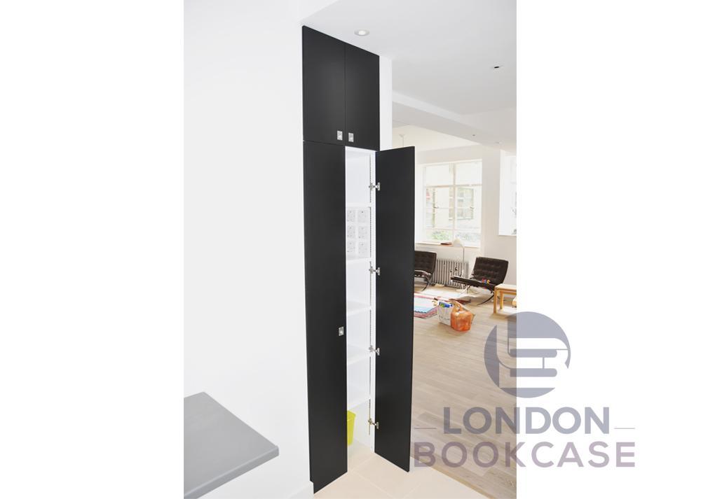 bespoke kitchen storage cupboard with hidden switches