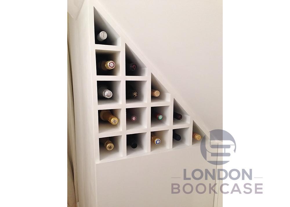 built-in beverage shelves