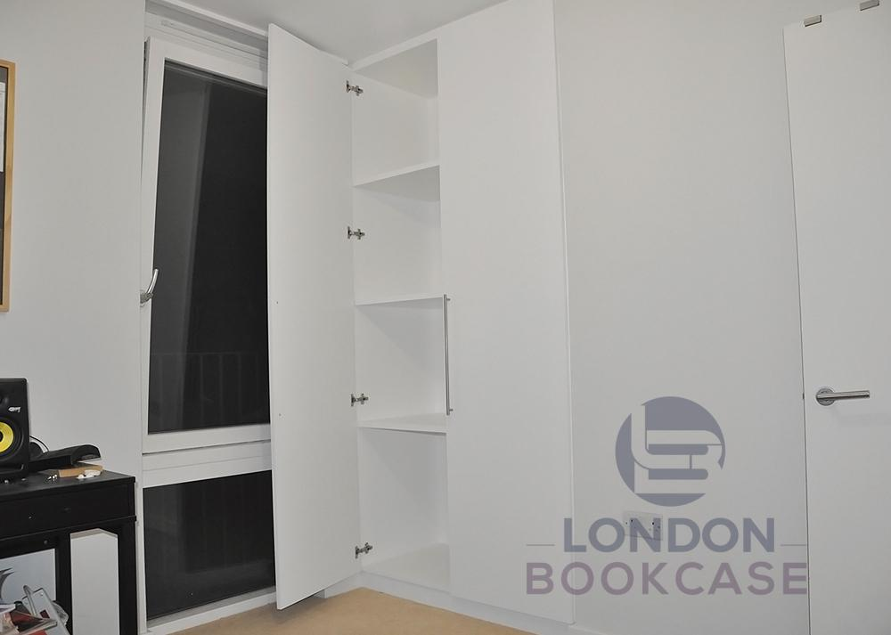 built-in wardrobe inside