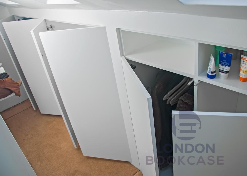 fitted cupboard door open