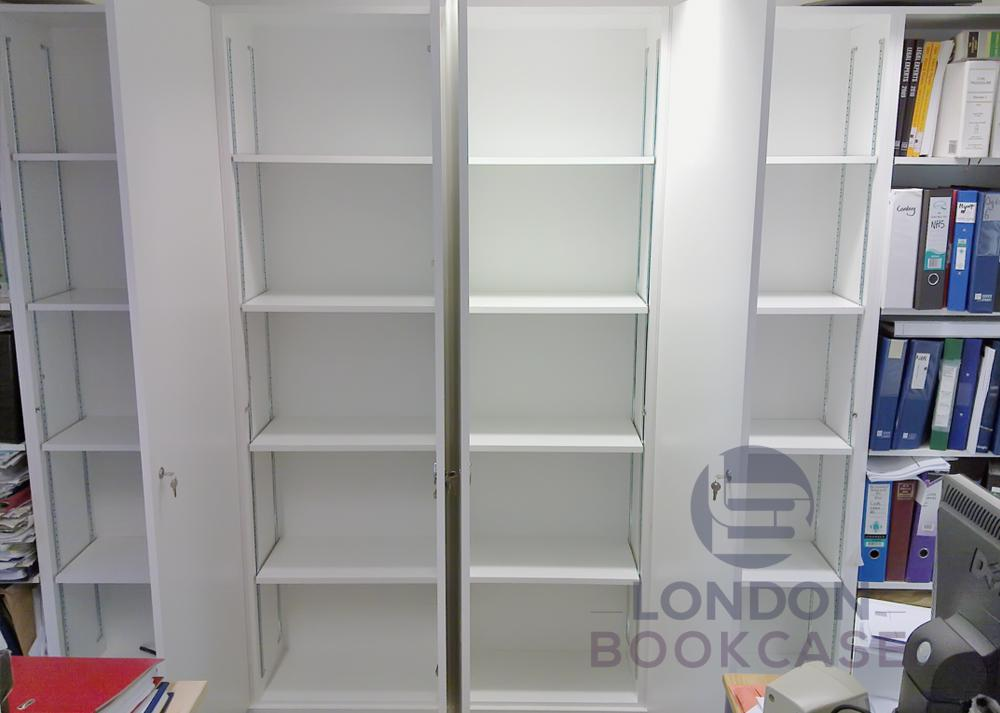fitted wardrobe inside shelves