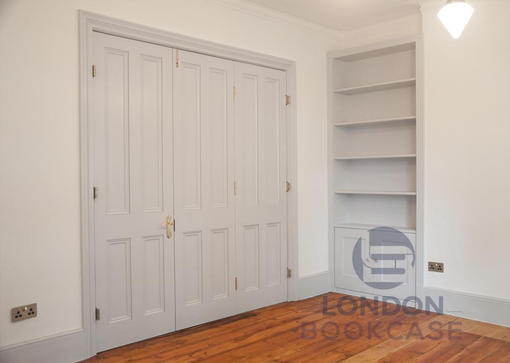 fitted classic alcove bookcase
