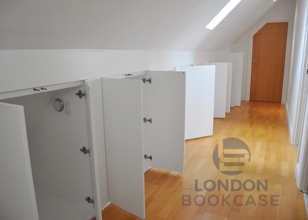 storage cupboards open doors