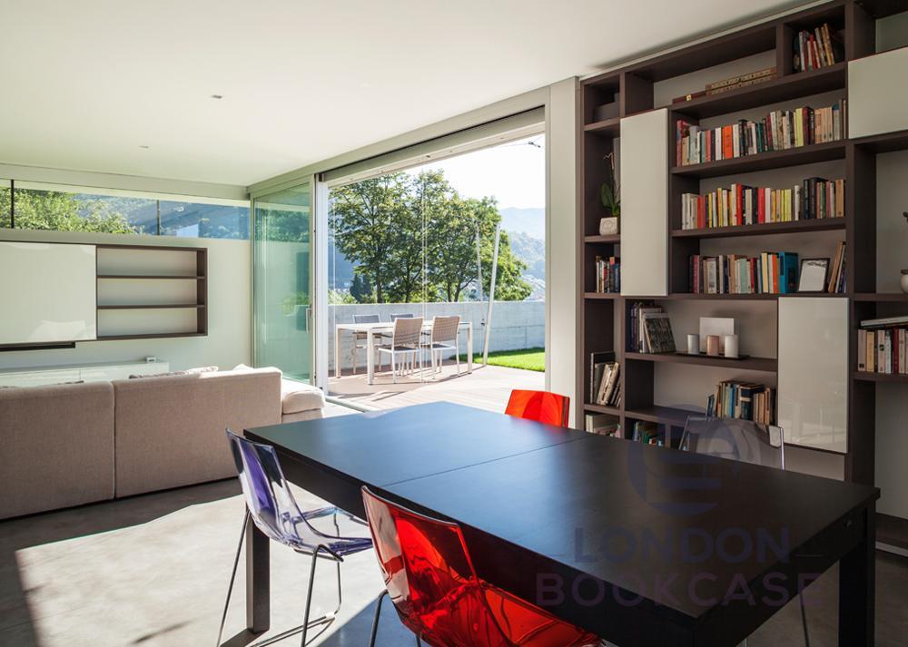 wood style bookcase